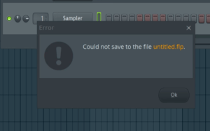 Could not save to the file untitled.flp.png
