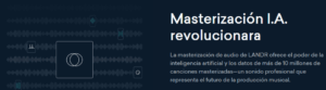 Masterización con LANDR