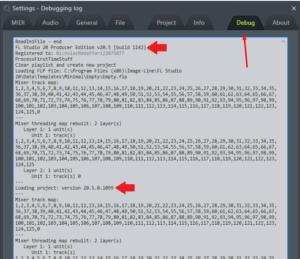 como se actualiza fl studio debugging log
