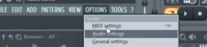 audio settings fls tudio