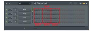 channel rack cambiar fl studio compas