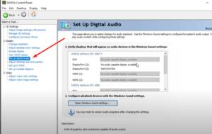 configurar el auudio nvidia Set up digital audio