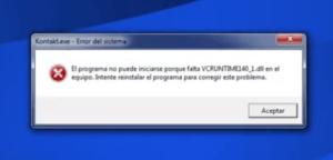 El programa no puede iniciarse porque falta VCRUNTIME140_1.dll