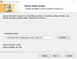 Paso 5: Seleccionar los lugares de instalación  Seleccione la ruta del archivo donde instaló por primera vez FL Studio. Haga clic en Siguiente.  Paso 6: Desbloquear la actualización de FL Studio  En primer lugar, tenemos que terminar de ejecutar el instalador. A continuación, tenemos que introducir las credenciales de nuestra cuenta de Image-Line en la sección Acerca de la nueva versión de FL Studio en tu ordenador.