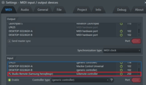settings fl studio configurar